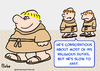 Cartoon: monks slow fast (small) by rmay tagged monks,slow,fast