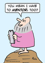 Cartoon: Moses mentor (small) by rmay tagged moses,mentor