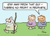 Cartoon: no profit in prophets (small) by rmay tagged no,profit,in,prophets