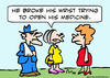 Cartoon: open medicine broke wrist old (small) by rmay tagged open,medicine,broke,wrist,old
