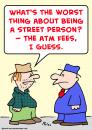 Cartoon: street person atm fees (small) by rmay tagged street,person,atm,fees