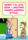 Cartoon: sudden amnesia attack (small) by rmay tagged sudden,amnesia,attack