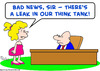 Cartoon: think tank leak (small) by rmay tagged think,tank,leak